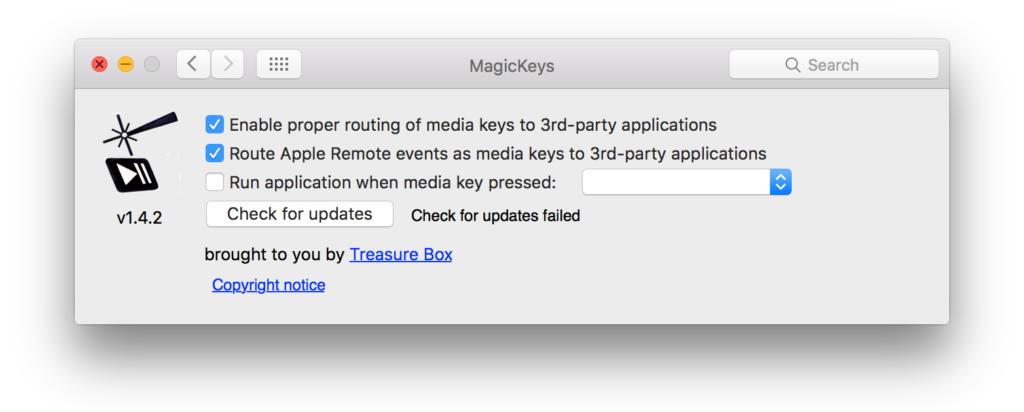 Magic Keys - Configuration